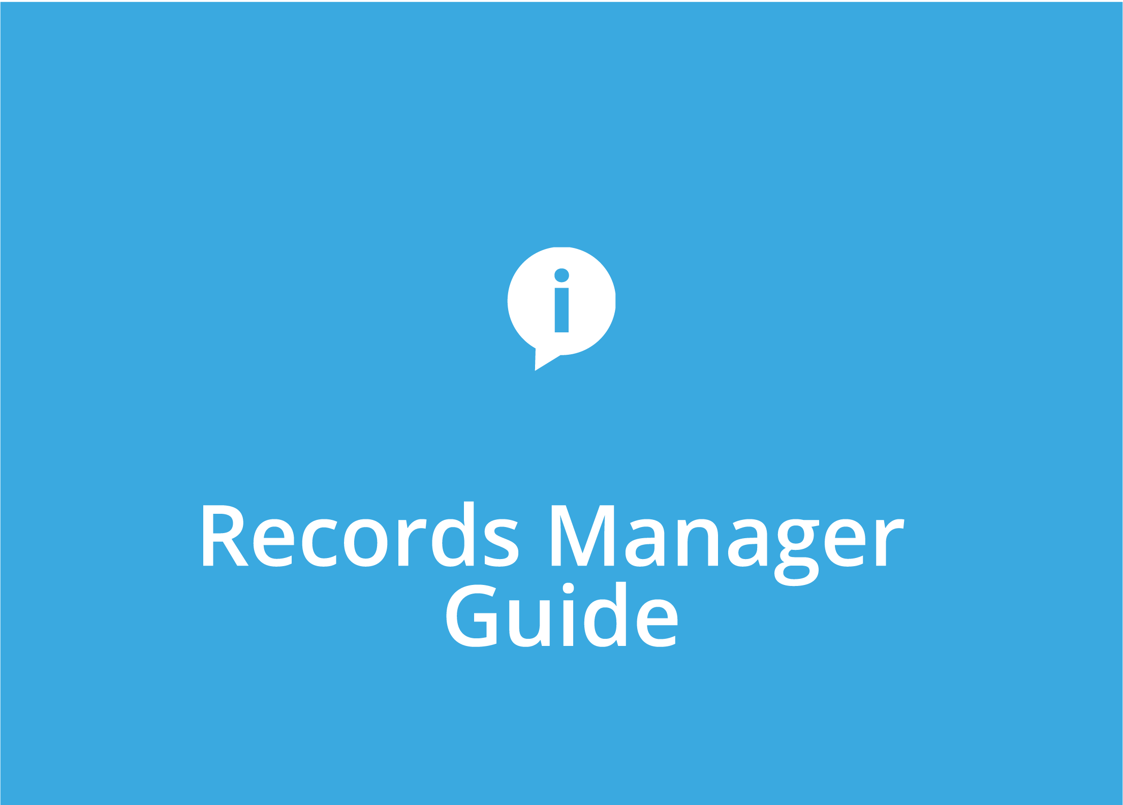 Records Manager Guide