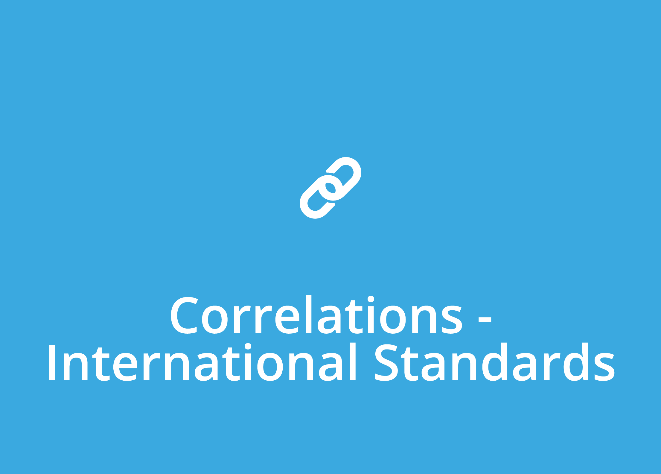 Correlations - Internatonal Standards