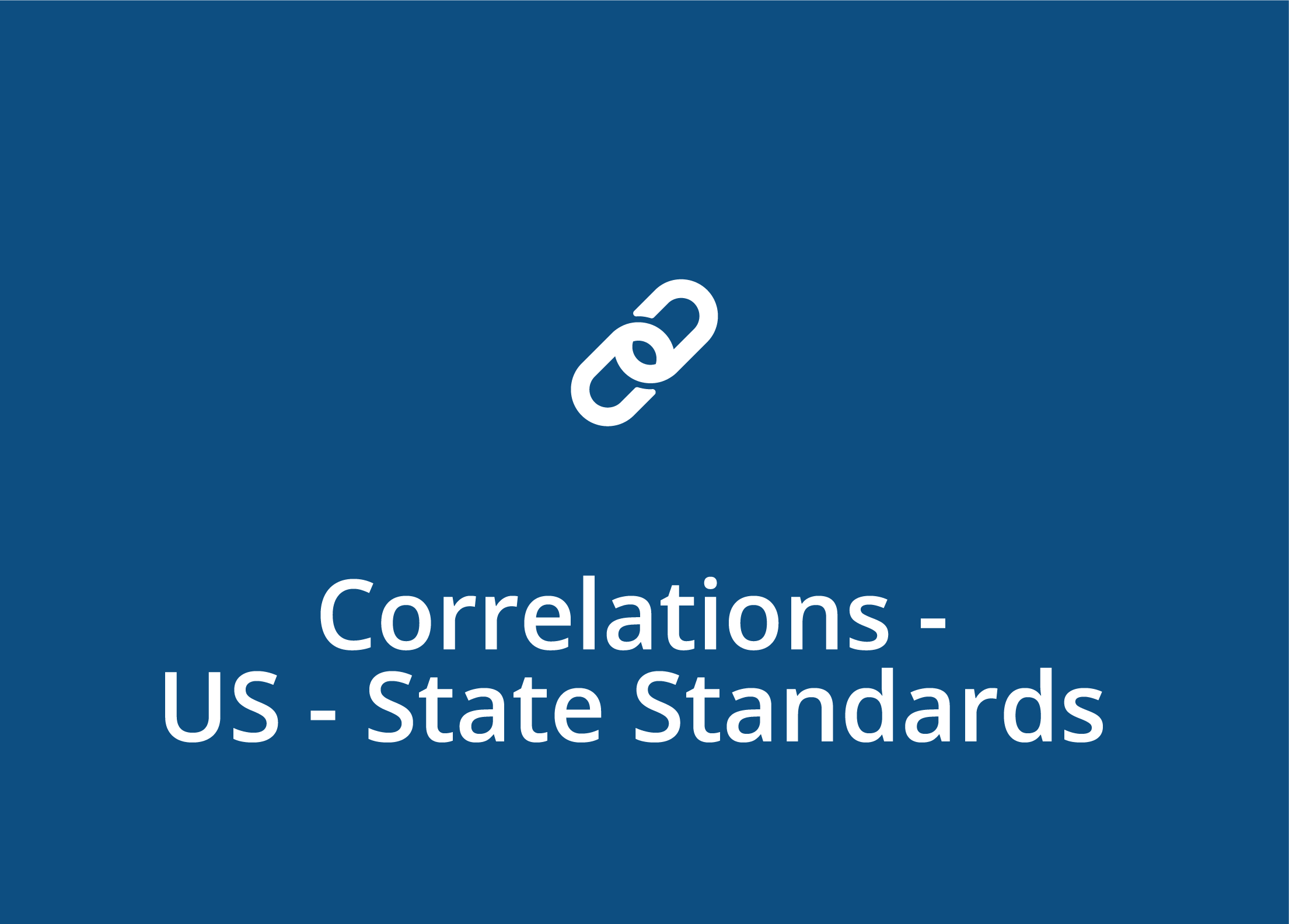 Correlations - US - State Standards